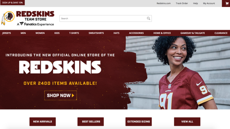 Washington's NFL team revamps online and in-venue team