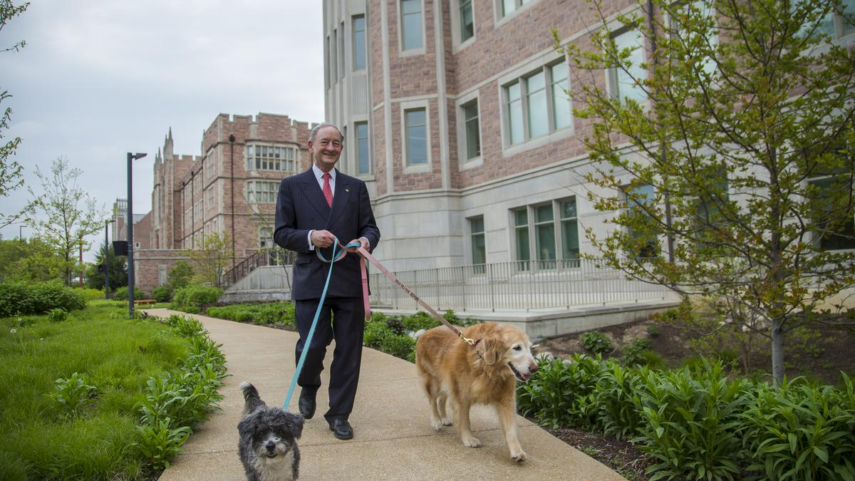 Mark Wrighton Watches Washington University S Campus Evolve During Memorable Dog Walks St Louis Business Journal