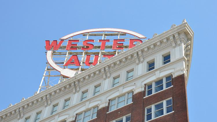 Kcs Historic Western Auto Sign Relights Kansas City Business Journal