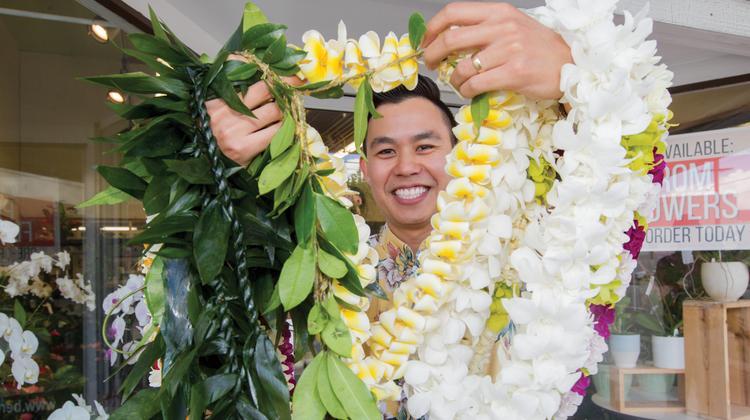 Reece Nakamoto Farinas head of Hawaii Lei Stand.