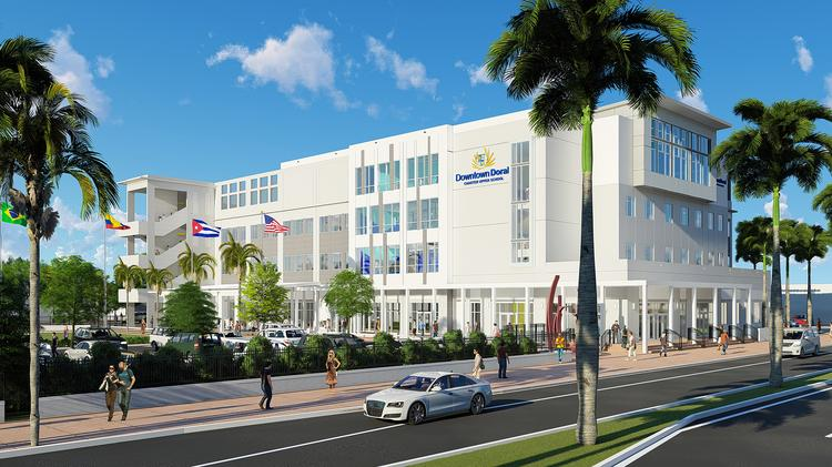 Downtown Doral Charter Upper School is set to open this year.