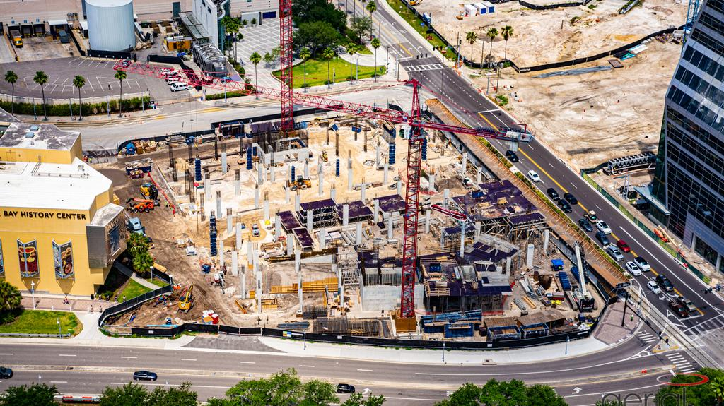 Get a bird's-eye view of all the construction happening in and around downtown Tampa (Photos)