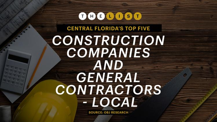 These are the top 5 construction companies and general