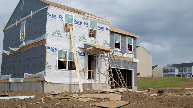 A home under construction in Moraine.