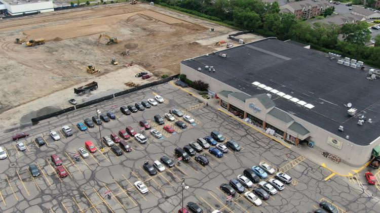 Site preparation is underway for the new Kroger Marketplace, which is being constructed next to the current store.