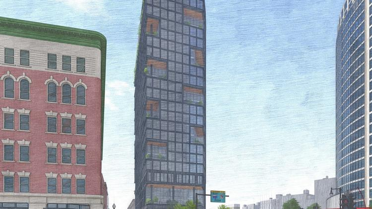 Oxford Properties has pitched a 24-story office at 125 Lincoln St. in Boston.