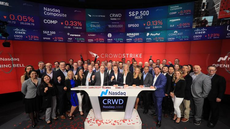 Cybersecurity company CrowdStrike shares soar after going
