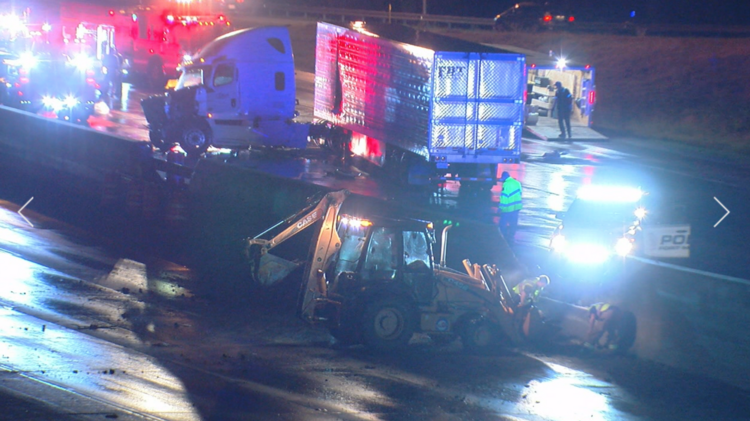 Interstate 71/75 southbound reopens after semi crash