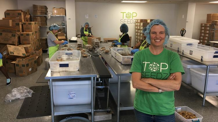 Rebecca Brady is the founder and owner of Top Seedz. The cracker products are made out of commercial space in Cheektowaga.