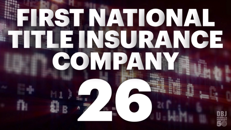 First National Title Insurance Company Is Looking To Expand To