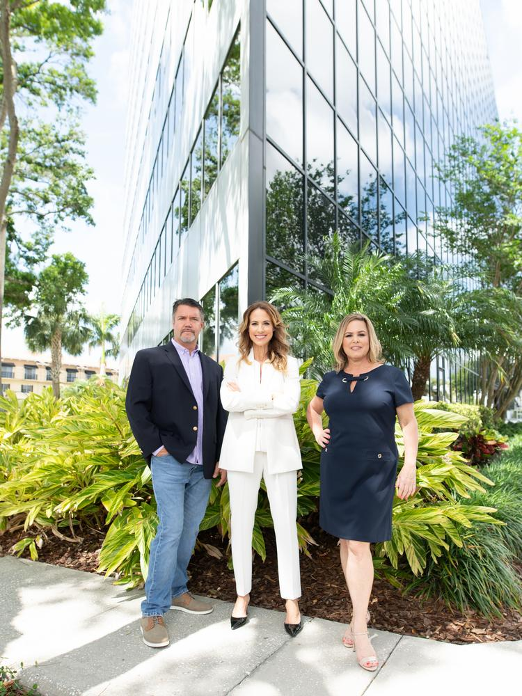 Broadstaff's leadership team, from left to right: Mike Day, EVP of Production, Carrie Charles, CEO, Julie Anderson, EVP of Training, Development and Talent Acquisition