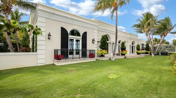 The home at 1300 N. Ocean Blvd., Palm Beach, sold for $12.23 million.