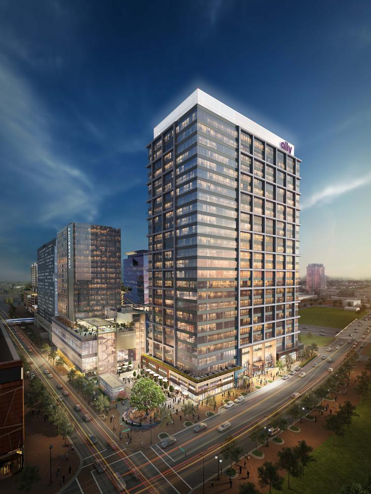 Ally Charlotte Center In Uptown Hits Construction Milestone