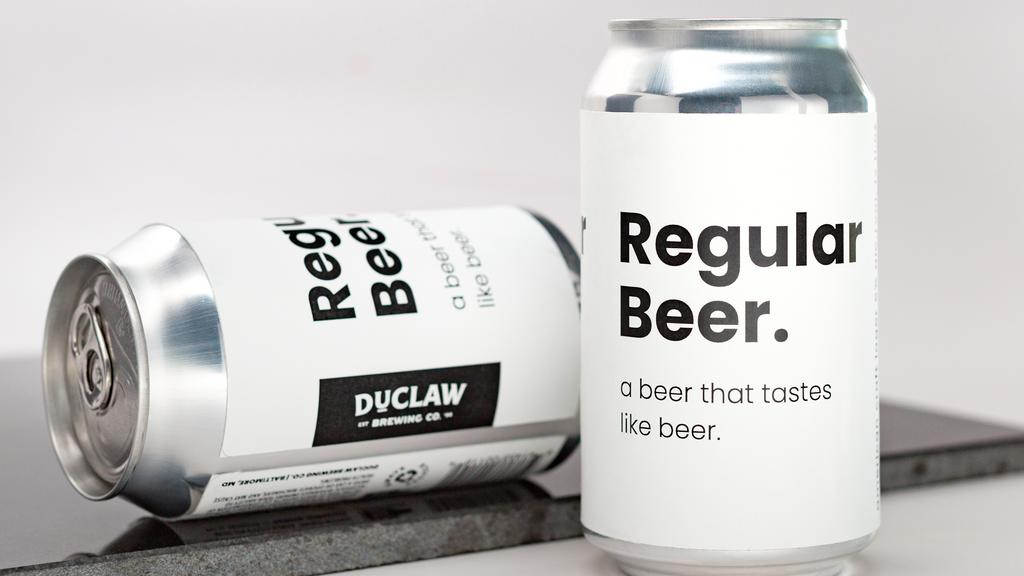 Can't decide on a craft beer? DuClaw has you covered with 'Regular Beer'