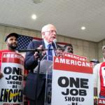 Elizabeth Warren, Bernie Sanders join labor rally at Reagan National
