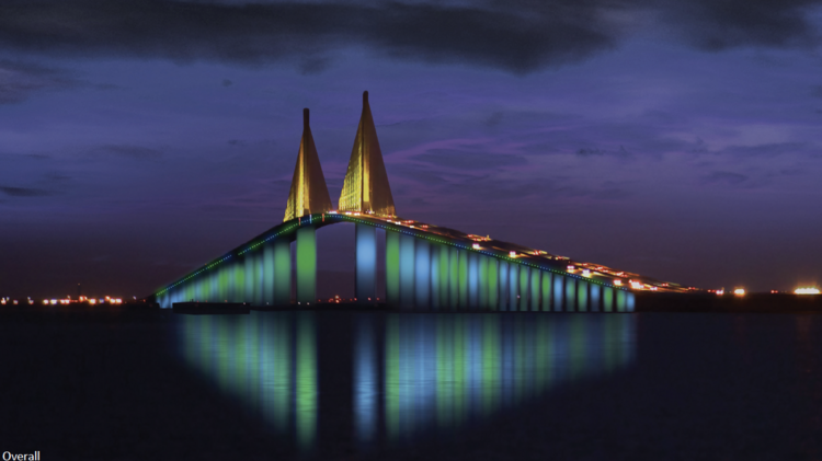 How The Sunshine Skyway Will Look With New 15m Led Lights