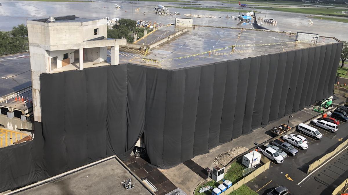 Tampa Airport Demolishes Old Red Side Rental Car Garage