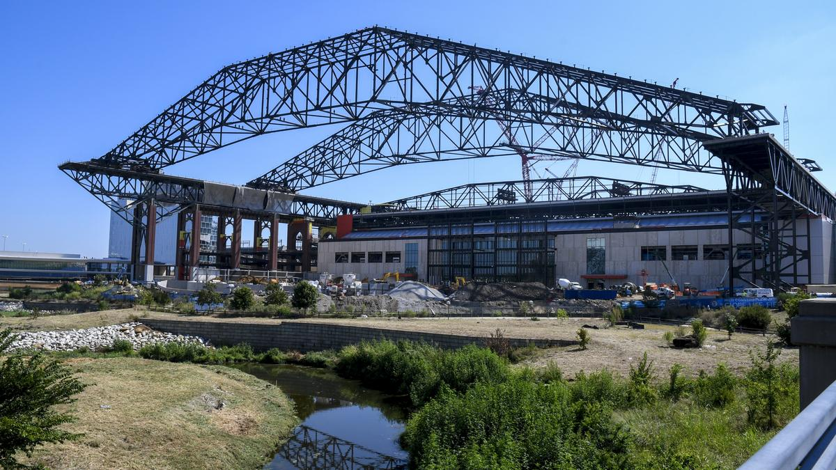 The Texas Rangers Globe Life Field Construction Is