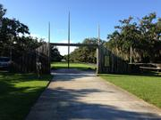 The popular Manatee national park was deserted on Oct. 3.