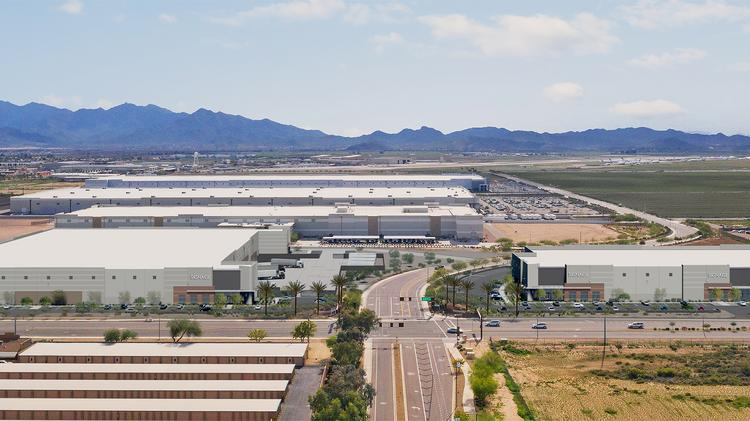 New York-based Foundation Capital Partners and Chicago-based Baker Development Corporation are building a two-building industrial complex in Goodyear. PROVIDED BY JLL