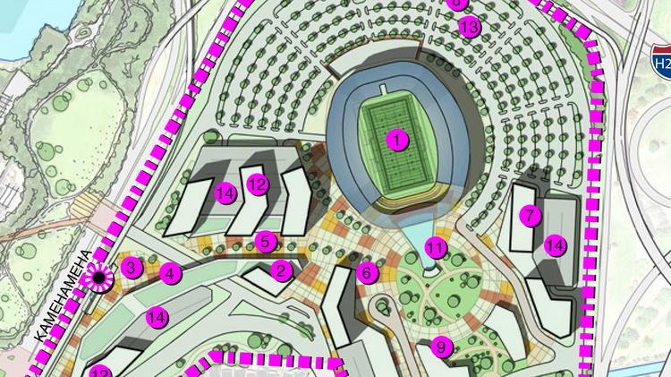 Hawaii's Aloha Stadium would downsize, add hotel, retail and