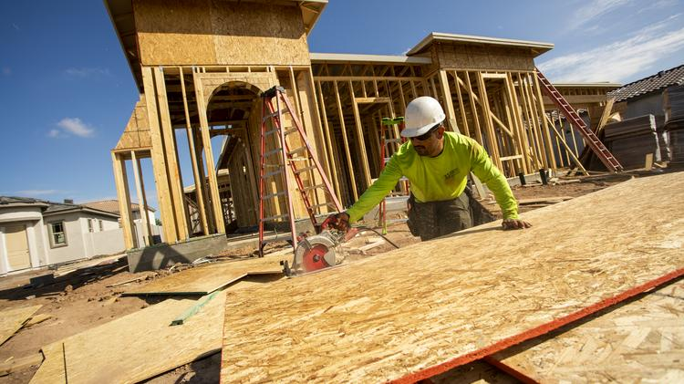 Construction workers continue to stay busy in metro Phoenix as new homes are built.