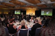 Attendees enjoyed dinner at the inaugural black-tie event at the Hyatt.