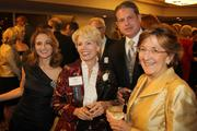 From left to right: Sneja Tomassian and Cathy Crain, both of the Cincinnati Opera, Dr. Charles Kuntz and Kathi McQuade