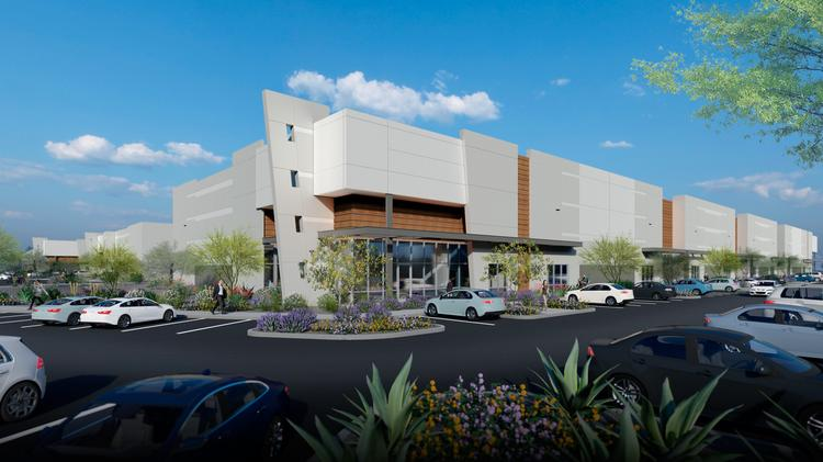 Trammell Crow Co. began construction on a four-building industrial complex called Park Aldea.