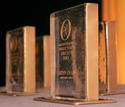 The awards were created by Brazee Street Studio.