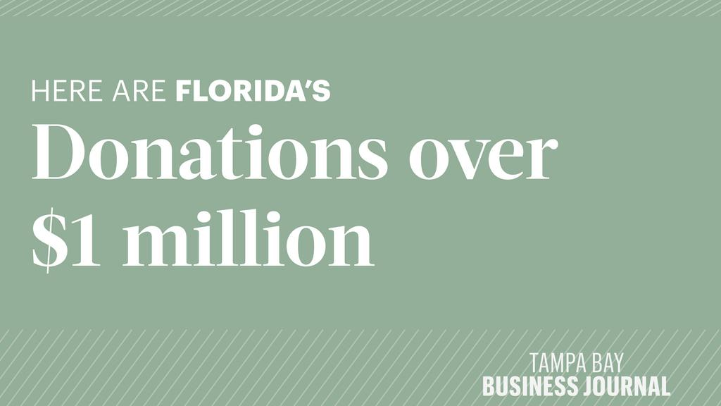 These are Florida's charitable donations over $1 million