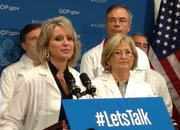 Rep. Renee Ellmers, a former nurse, calls on the Senate to pass a House bill that funds the National Institutes of Health.
