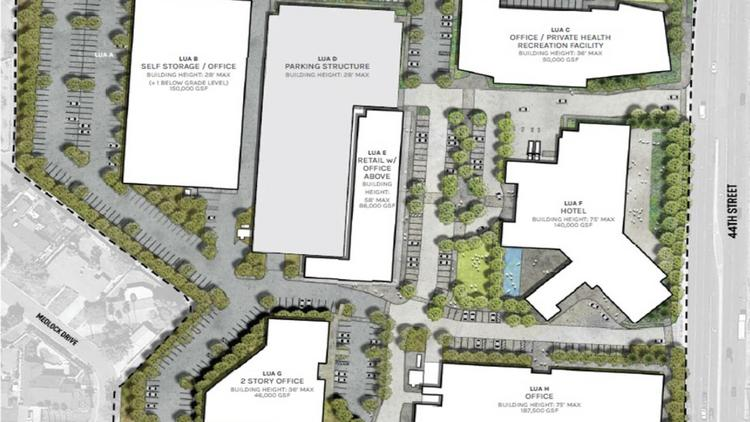 The proposal for the development on 44th Street and Camelback includes redeveloping all the buildings on the parcel.