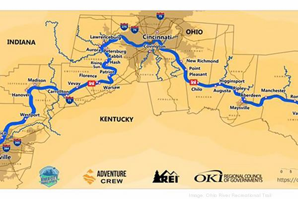 map of ohio kentucky and indiana Ohio River Trail Gains Federal Assist Cincinnati Business Courier map of ohio kentucky and indiana