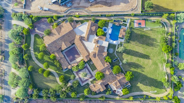 An aerial view of the Paradise Valley home sold previously sold by Phoenix Suns owner Robert Sarver for a record $19.25 million in November 2019. It sold again for another record-breaking $20.9 million on Oct. 28.