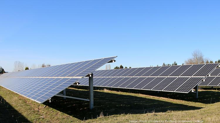 PCC Rock Creek has one of the largest solar panel systems in Oregon.