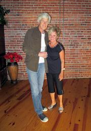 """Keith Morrison of """"Dateline NBC"""" poses with Pat Peppard, owner of the Loft at 420 in Wichita."""