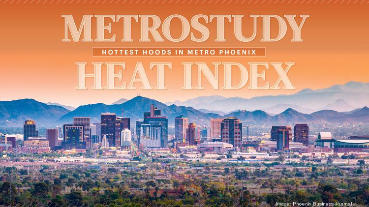 "The Metrostudy Heat Index determines the ""hotness"" of each market in the Valley by a combination of average sales price changes, as well as new home activity and absorptions where applicable."