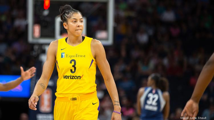 Candace Parker led the Los Angeles Sparks to a WNBA title in 2016.
