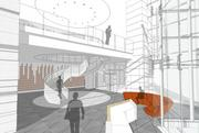 A designer's look at a BHP Billiton tower staircase.