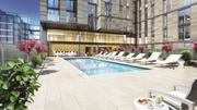 Amenities at The Apartments at CityCenter will include a rooftop pool and dog park.