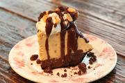 For dessert, guests can order the homemade peanut butter pie.