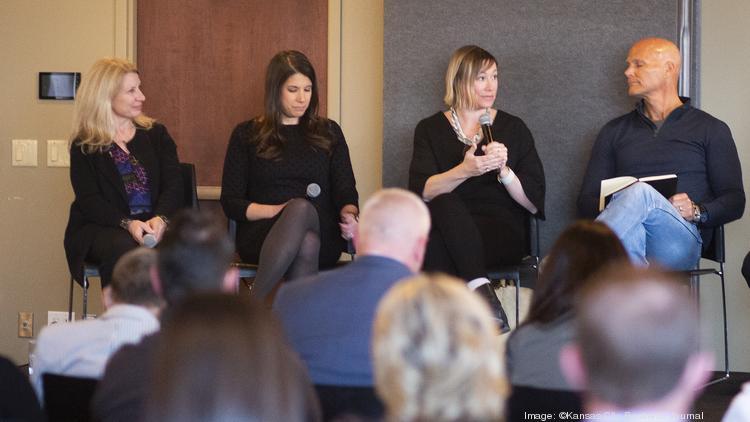 Panelist address the crowd (from left): Jill Meyer, Carol Espinosa, Dominique Davison and Sandy Kemper.
