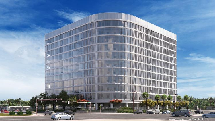 Rendering of the One Camelback building, which is being transformed from offices to luxury apartments.