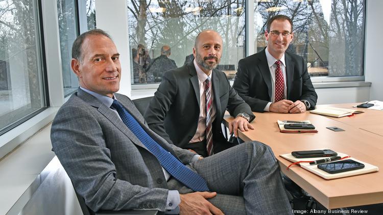 Richard Cavallaro, left, executive vice president; Keith Leal, area manager; and John LaRow, vice president at Gilbane Building Co.