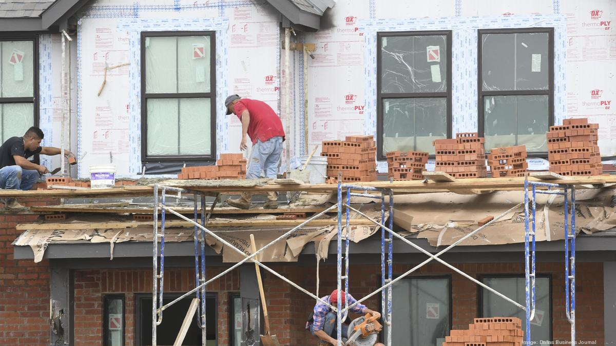 DFW home construction continues through COVID-19, but builders are wary - Dallas Business Journal
