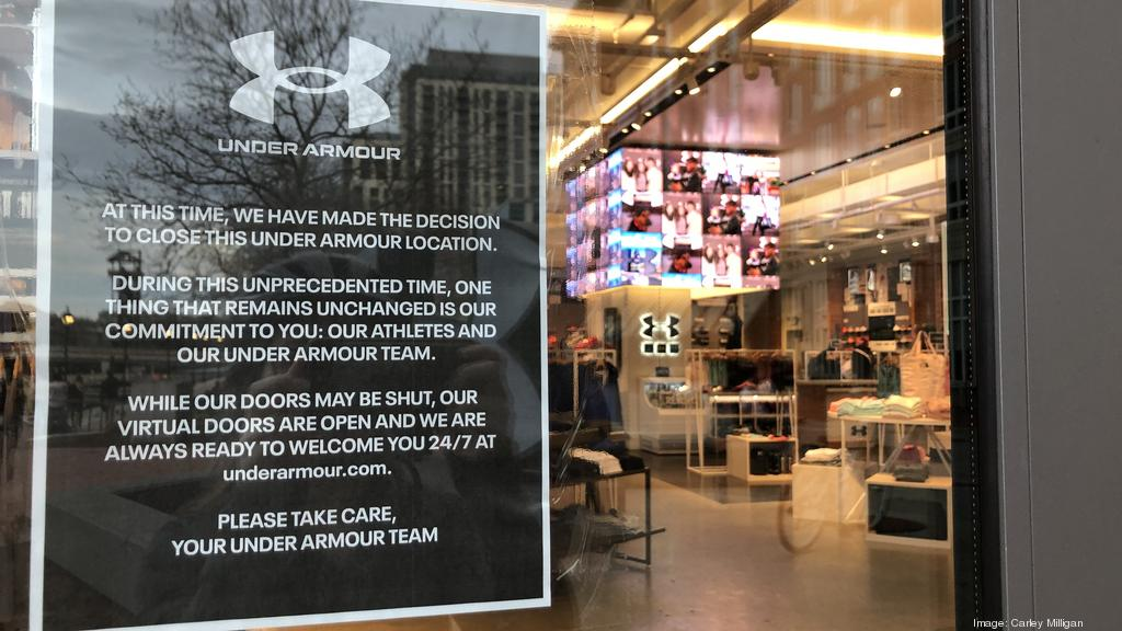 Aislar Tamano relativo de ultramar  Under Armour closes stores indefinitely, will lay off thousands of  employees - Baltimore Business Journal