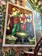 A wall painting at the Versace mansion.