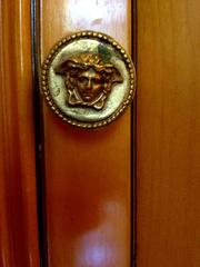 Versace's emblem is everywhere at the mansion.