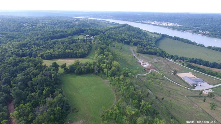 An aerial of the land that will become Rivers Pointe Estates in Northern Kentucky.